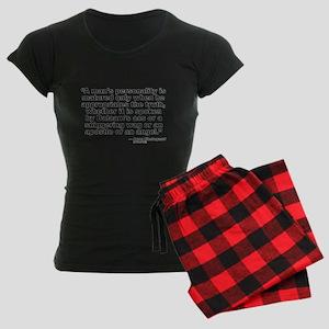 Kierkegaard Personality Women's Dark Pajamas