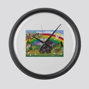 Rainbow Bright / Dachshund (w Large Wall Clock