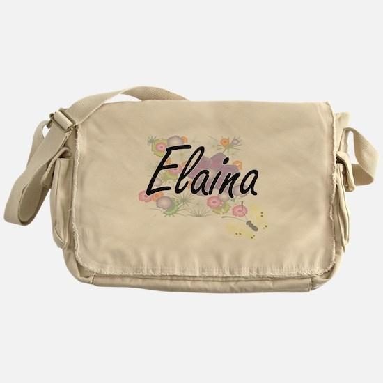 Elaina Artistic Name Design with Flo Messenger Bag
