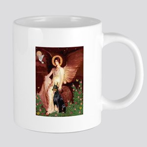 Seated Angel & Dobie 20 oz Ceramic Mega Mug