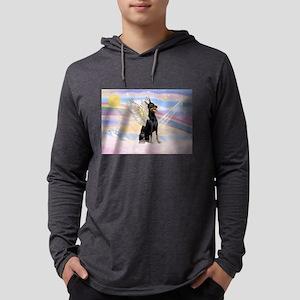 Dobie Angel in Clouds Mens Hooded Shirt
