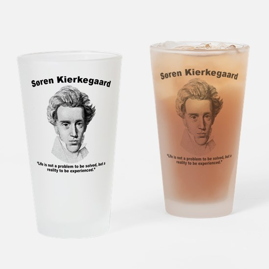 Kierkegaard Life Drinking Glass