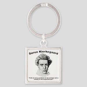 Kierkegaard Life Square Keychain