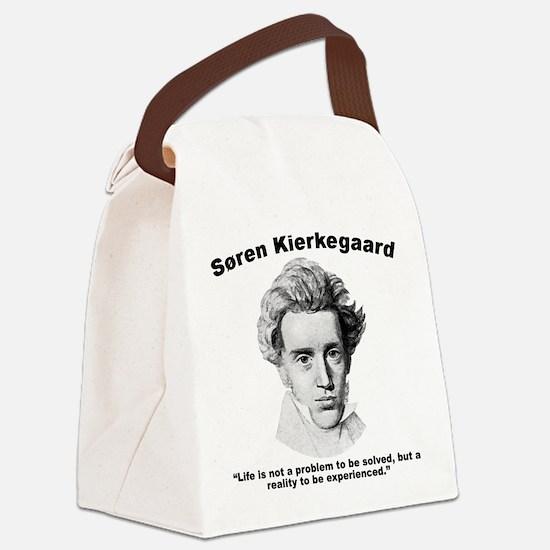 Kierkegaard Life Canvas Lunch Bag