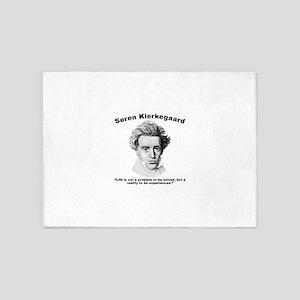 Kierkegaard Life 5'x7'Area Rug