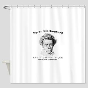 Kierkegaard Life Shower Curtain