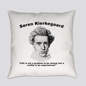 Kierkegaard Life Everyday Pillow