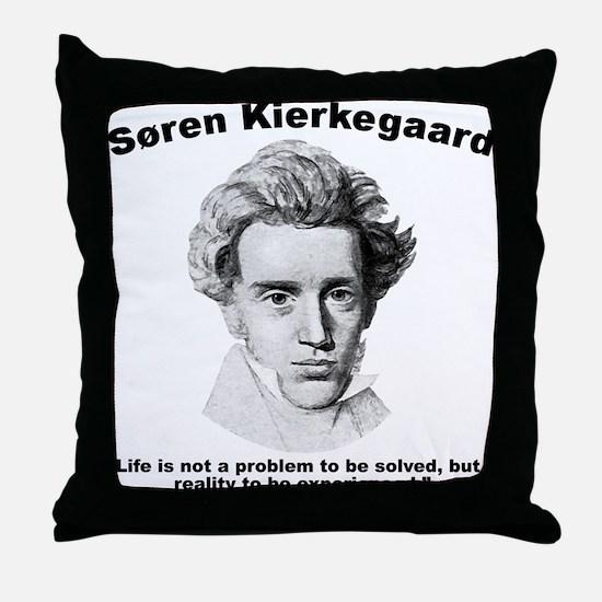 Kierkegaard Life Throw Pillow