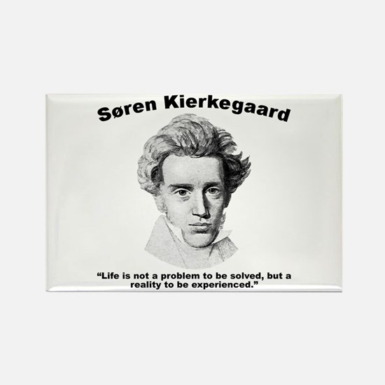 Kierkegaard Life Rectangle Magnet