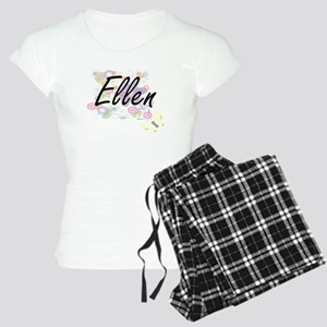 Ellen Artistic Name Design Women's Light Pajamas