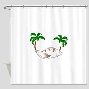Beach Applique Shower Curtain
