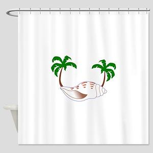 Beach Applique Shower Curtain