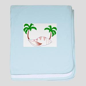 Beach Applique baby blanket