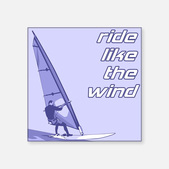 """FIN-windsurfing-ride-wind.png Square Sticker 3"""" x"""