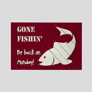 GONE FISHIN' Magnets