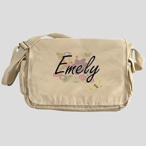 Emely Artistic Name Design with Flow Messenger Bag