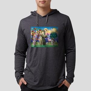 Saint Francis /German SHP Mens Hooded Shirt