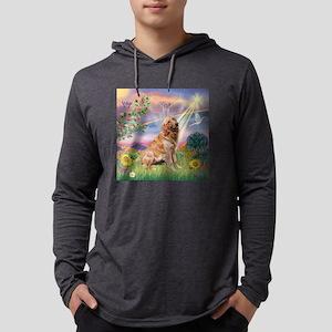 Cloud Angel / Golden Mens Hooded Shirt
