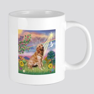Cloud Angel / Golden 20 oz Ceramic Mega Mug
