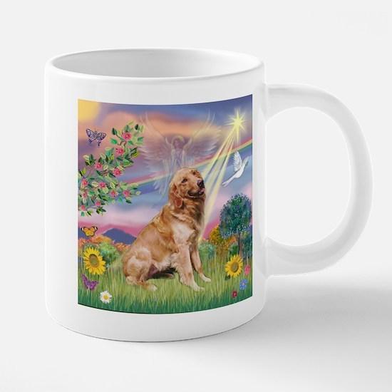 Cloud Angel / Golden 20 oz Ceramic Mega Mug