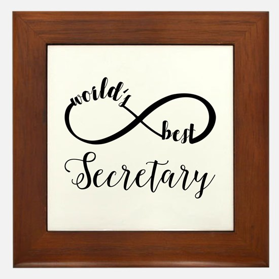 World's Best Secretary Framed Tile