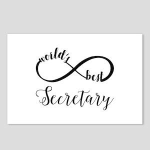 World's Best Secretary Postcards (Package of 8)