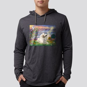 Cloud Angel / Great Pyrenees Mens Hooded Shirt
