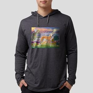 Cloud Angel & Greyound Mens Hooded Shirt