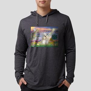 Cloud Angel /Havanese Mens Hooded Shirt