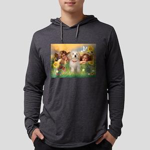 Angels & Havanese Pup Mens Hooded Shirt