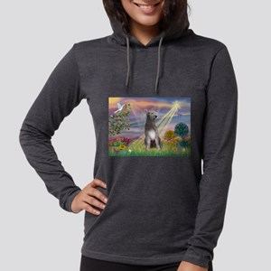 Cloud angel / Wolfhound(g) Womens Hooded Shirt