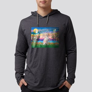 Guardian Angel /Italian Greyh Mens Hooded Shirt