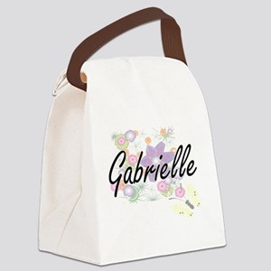 Gabrielle Artistic Name Design wi Canvas Lunch Bag