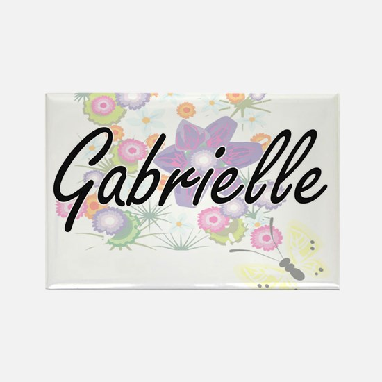 Gabrielle Artistic Name Design with Flower Magnets