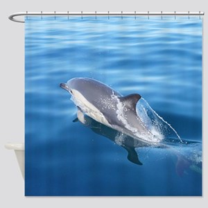 Wild Common Dolphin Shower Curtain