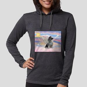 Angel/Keeshond Womens Hooded Shirt
