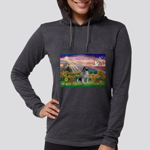 Autumn Angel/Keeshond Womens Hooded Shirt