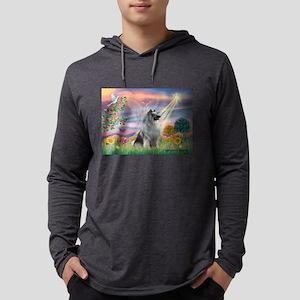 Cloud Angel / Keeshond Mens Hooded Shirt