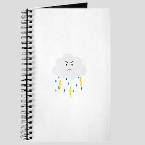 Grumpy cloud with lightnings Journal