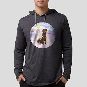 ORN - Clouds - Lab Angel (Choc) Mens Hooded Shirt