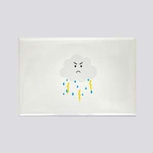 Grumpy cloud with lightnings Magnets