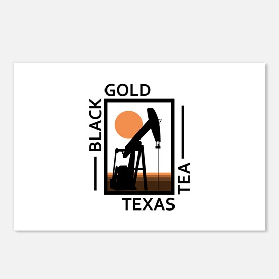 Black Gold Texas Tea Postcards (Package of 8)