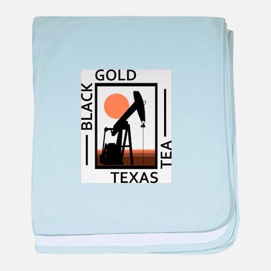 Black Gold Texas Tea baby blanket