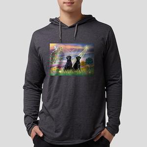Cloud Angel & 2 Labs Mens Hooded Shirt
