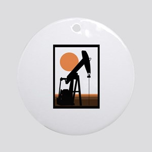 Oil Well Round Ornament