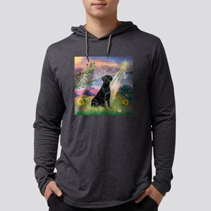 Cloud Angel / Lab (black) Mens Hooded Shirt