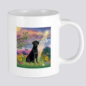 Cloud Angel / Lab (black) 20 oz Ceramic Mega Mug