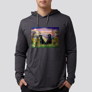 Autumn Angel / Lab (2blk) Mens Hooded Shirt