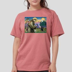 St. Francis & Min Pin Womens Comfort Colors Shirt