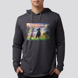 Cloud Angel / Miniature Pinsc Mens Hooded Shirt